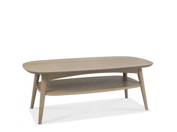 Living Room Dansk Skandi Oak Coffee Table With Shelf Buy At W T Nettleton Wakefield