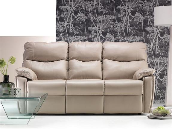 G Plan   Henley Leather 3 seater sofa   Buy at W & T