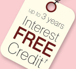 3 years interest-free credit